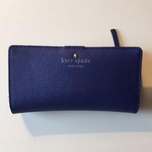 Kate Spade wallet - royal blue